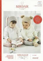 Sirdar Snuggly Bunny Fur Effect Knitting Pattern - 5303 Bunny Hat, Bear Hat & Bootees